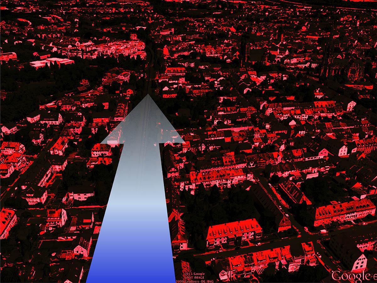 Nachts bringt der ständige Südwestwind kühlere Luft in die Innenstadt